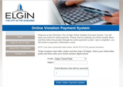 City of Elgin – Parking Fines Payment System