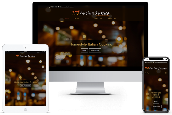 750 Cucina Rustica Website
