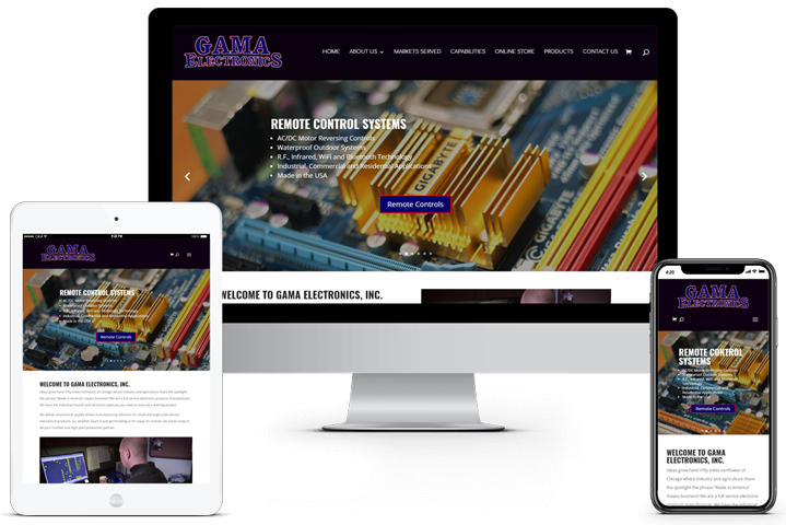 Gama Electronics Web Site