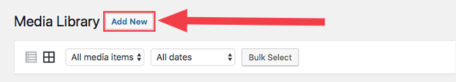 add new media button in wordpress