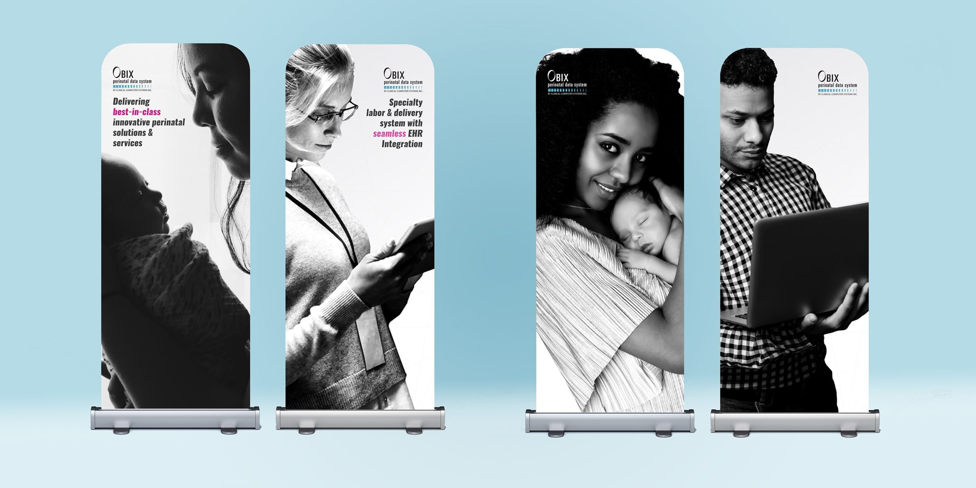 OBIX Banner stands for exhibition booth