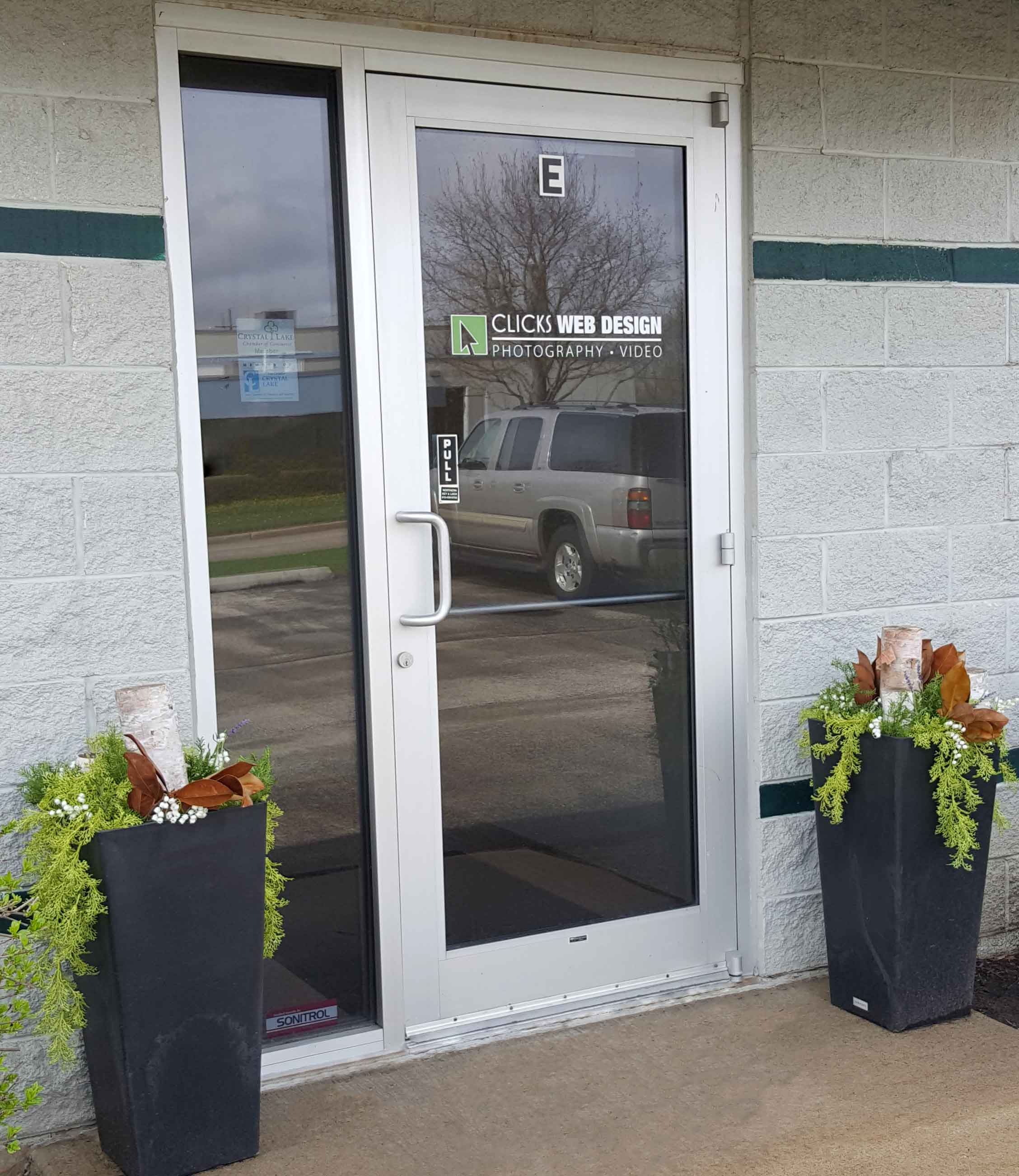 Image of Clicks Web Design's front entrance. Contact us today!