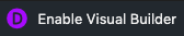 enable visual builder toolbar button