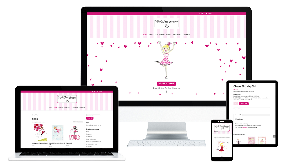 Mary Ann Johnson Ecommerce Website