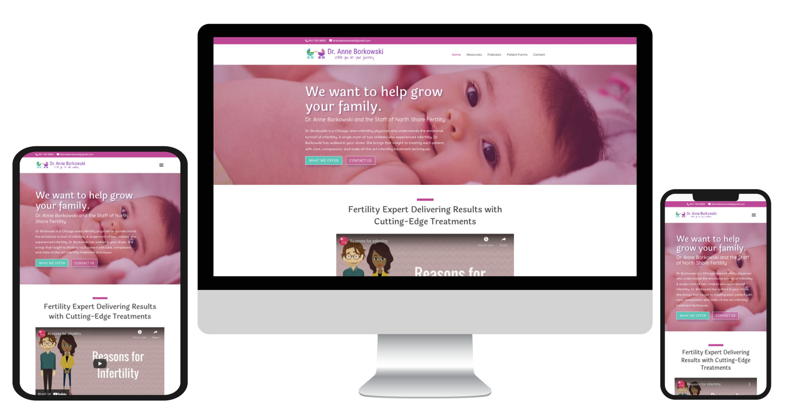 North Shore Fertility responsive website mockup