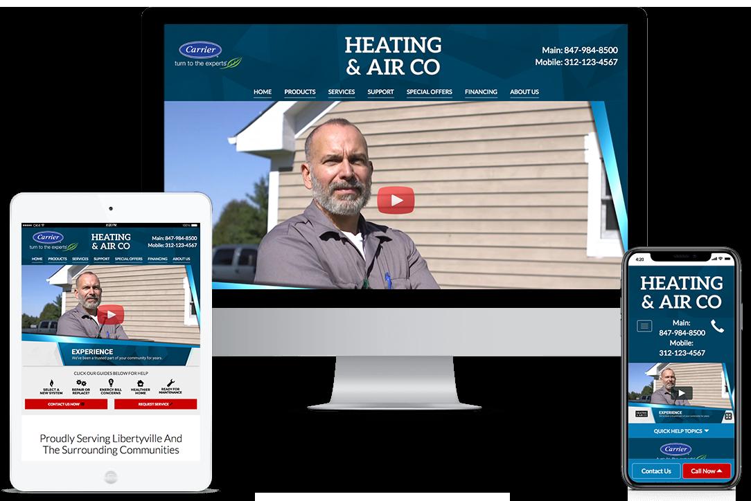 Select On Site HVAC Websites Template - Design 18